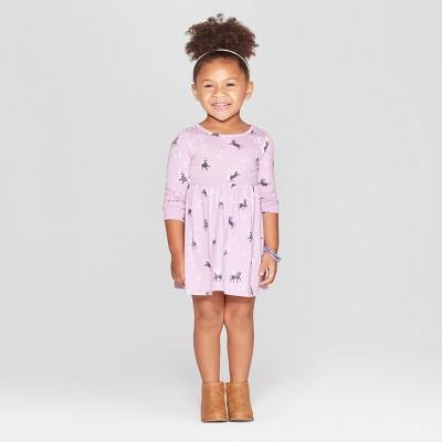 Toddler Girls' Unicorn All Over Print A-Line Dress - Cat & Jack™ Purple