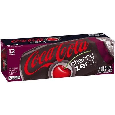 coca cola cherry zero 12pk 12 fl oz cans