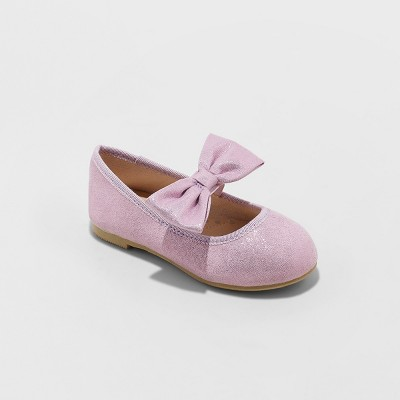 Toddler Girls' Angeni Bow Ballet Flats - Cat & Jack™ Purple
