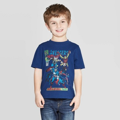 Toddler Boys' Marvel Classic Cover T-Shirt - Navy