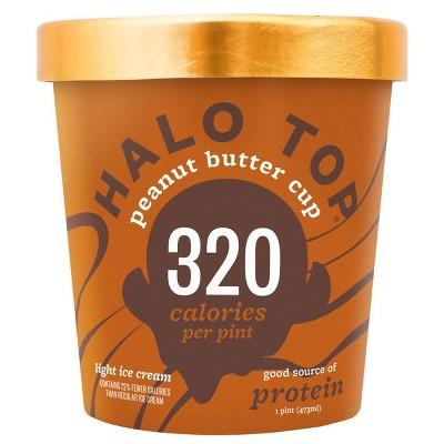 Halo Top Peanut Butter Cup Ice Cream - 16oz : Target