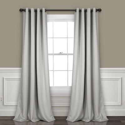 Insulated Grommet Blackout Curtain Panels Pair Set - Lush Decor