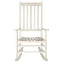 Rocking Chair White Outdoor Beach Sand Chairs Shasta Wash Safavieh Target Patio