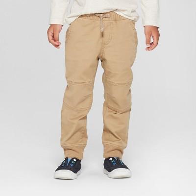 Toddler Boys' Reinforced Knee Jogger Fit Pull-On Pants - Cat & Jack™ Brown