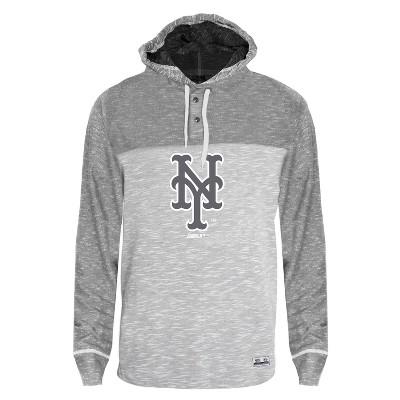 MLB New York Mets Men's Clubhouse Tonal Henley Hoodie