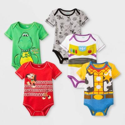 Baby Disney Toy Story 5pk Bodysuits