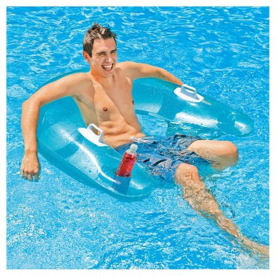 pool chair floats target short slipcovers intex sit n float inflatable lounge colors may vary 1 more