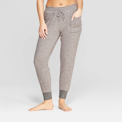 Women's Striped Perfectly Cozy Lounge Jogger Pants - Stars Above™ Gray
