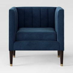 Target Blue Chair Espen Scoop Back Dining Soriano Channel Tufted Project 62