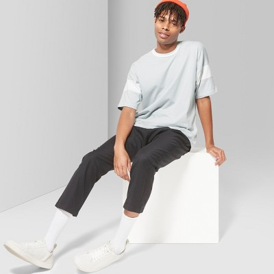 Men's Loose Fit Short Sleeve Oversize Football Crew Neck T-Shirt - Original Use™ Quill Gray