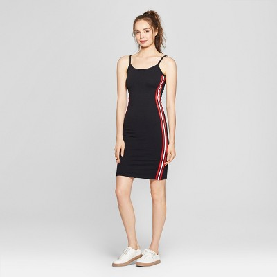Women's Side Taping Midi Dress - Almost Famous (Juniors') Black