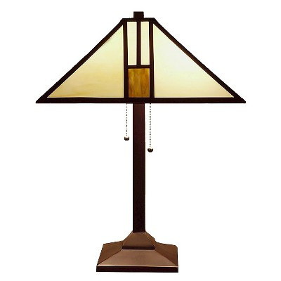Tiffany Style White Mission-style Table Lamp (Lamp Only)