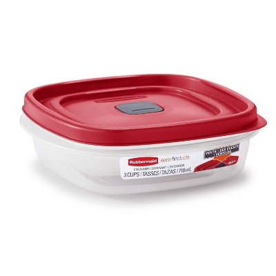 rubbermaid 3 cup plastic food storage container