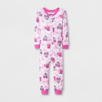 Toddler Girls' Sesame Street Blanket Sleeper - Pink