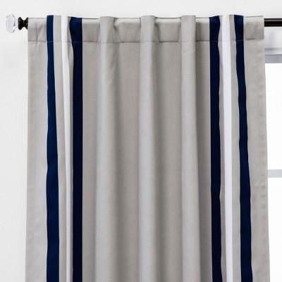 Printed Stripe Blackout Window Curtain Panel - Pillowfort™