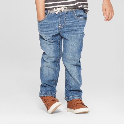 Toddler Boys' Pull-On Straight Jeans - Cat & Jack™ Medium Wash