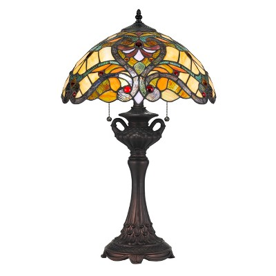 60W X 2 Tiffany Table Lamp Light Yellow (Lamp Only) - Cal Lighting
