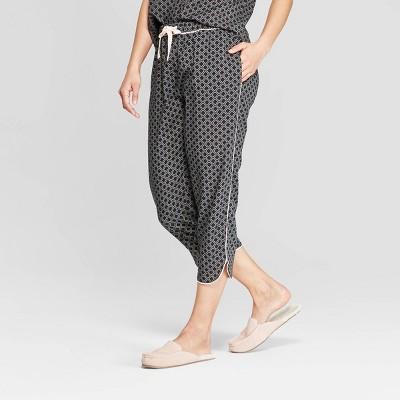 Women's Geo Print Simply Cool Crop Pajama Pants - Stars Above™ Black
