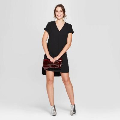 Women's Short Sleeve V-Neck Crepe Dress - A New Day™