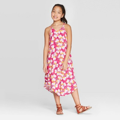 Girls' Woven Maxi Dress - Cat & Jack™ Magenta