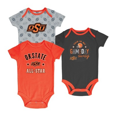 Oklahoma State Cowboys Baby Boy Short Sleeve 3pk Bodysuit