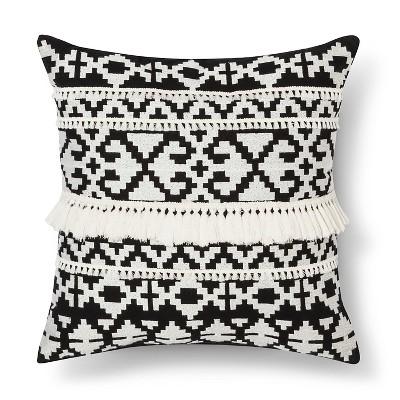 BlackWhite Throw Pillow Tassel  Threshold  Target