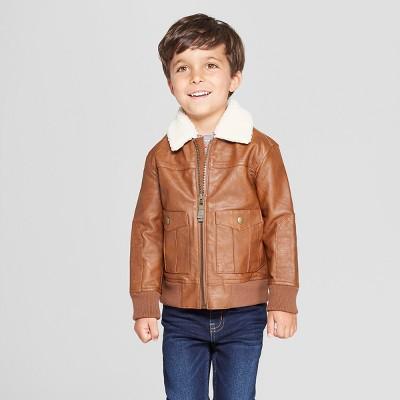 Genuine Kids® from OshKosh Toddler Boys' Aviator Bomber Jacket - Brown