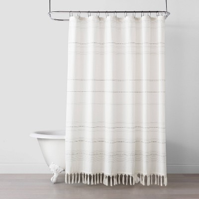 off white shower curtains target