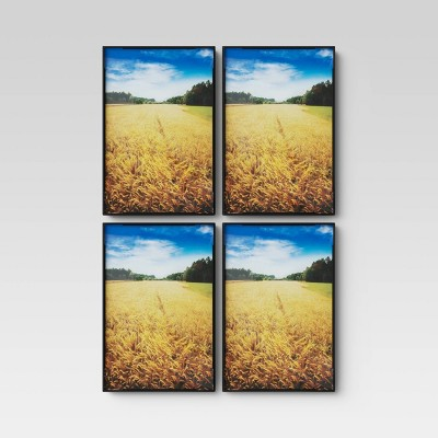 4 x 6 set of 4 format frames black room essentials