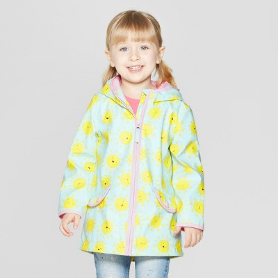 Toddler Girls' Printed Rain Jacket - Cat & Jack™ Light Blue