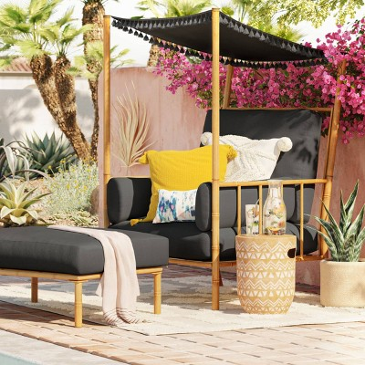 calla canopy patio accent chair and
