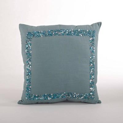 seed bead design down filled throw pillow sea green saro lifestyle