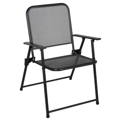 metal mesh folding patio chair threshold