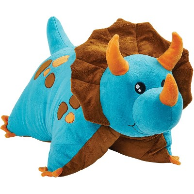 blue dinosaur small plush pillow pets