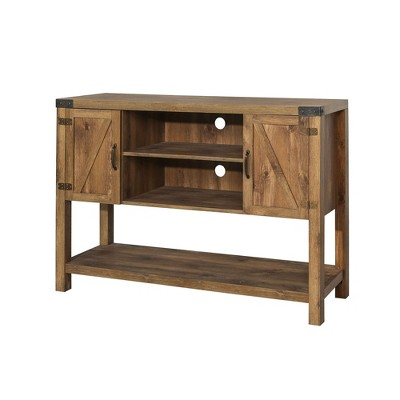 "52"" Barn Door Buffet Table Console TV Stand - Barnwood - Saracina Home"