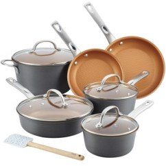 Kitchen Pan Set Farm Style Sink Ayesha Curry 11pc Home Collection Hard Anodized Aluminum Cookware Target