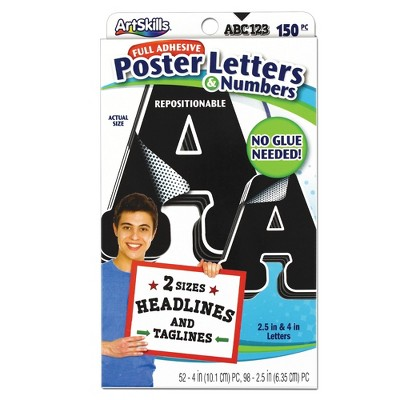150pc poster letters numbers artskills