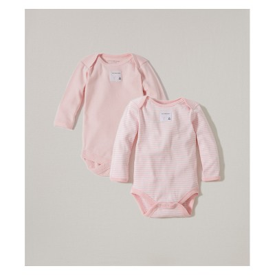 Burt's Bees Baby® Organic Cotton 2pk Long Sleeve Bodysuit Set - Blossom