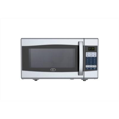 oster 0 9 cu ft 900 watt digital microwave oven black stainless steel ogxe0901
