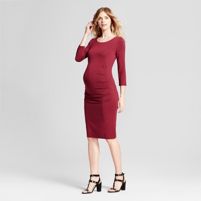 Maternity 3/4 Sleeve Pleated Dress - Isabel Maternity by Ingrid & Isabel™