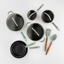 Kitchen Pots And Pans Sink Mat Cravings By Chrissy Teigen 12pc Aluminum Cookware Set Target