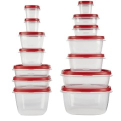 Rubbermaid Kitchen Storage Containers Slim 28pc Easy Find Lids Food Set Target