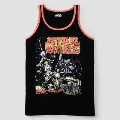 Men's Star Wars Cover Tank Tops - Black