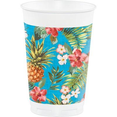 8ct aloha 16oz plastic