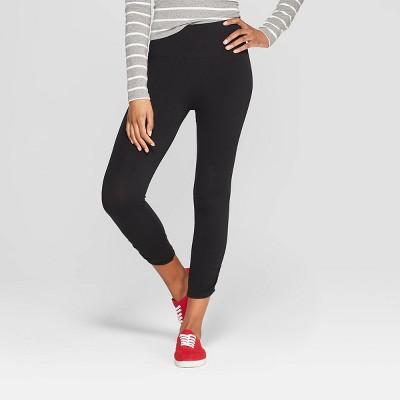 Women's High Waist Seamless Capri Leggings - Xhilaration™ Black