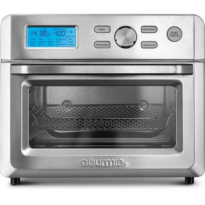 gourmia digital stainless steel 16 in 1 toaster oven air fryer silver