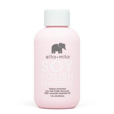 Ella + Mila Soy Nail Polish Remover - 4 fl oz