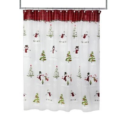 woodland winter shower curtain red skl home