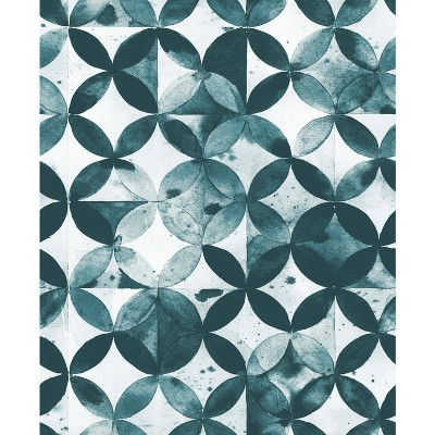 roommates paul brent moroccan tile green peel and stick wallpaper