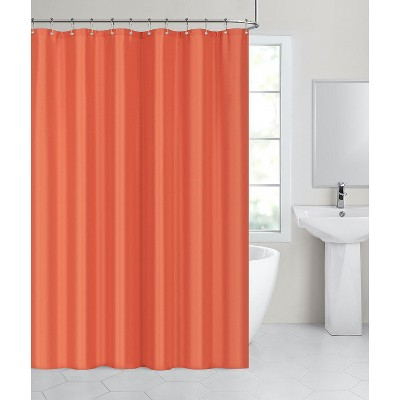 hotel collection fabric shower curtain liners with reinforced hook holes pumpkin spice